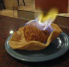 Flambe Fried Ice Cream