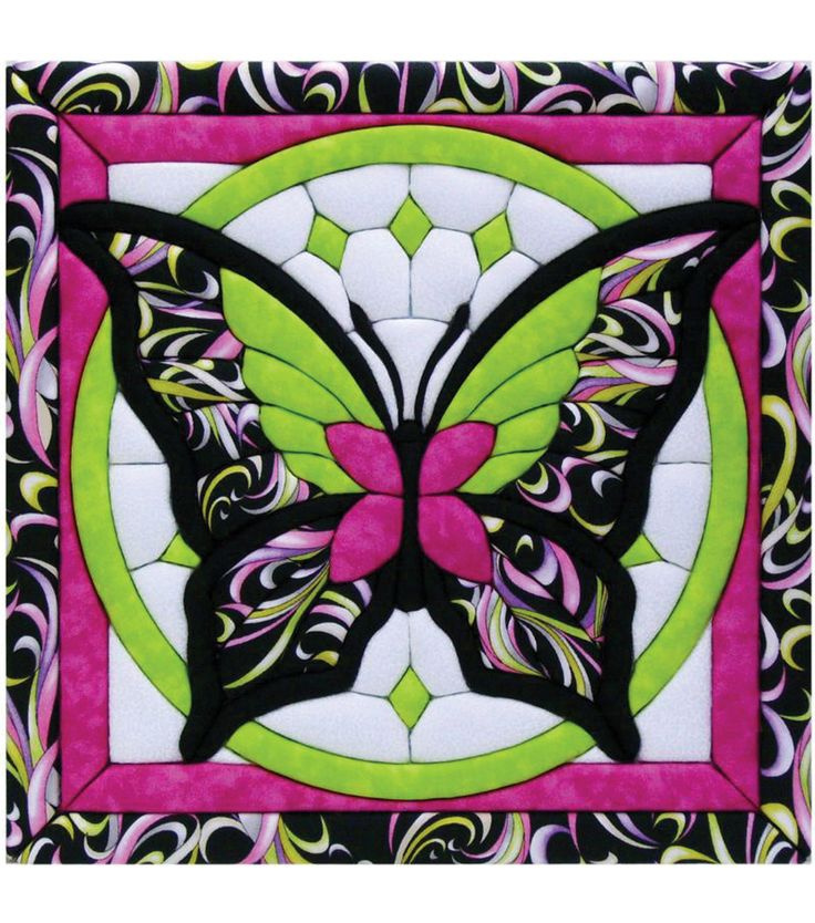 "Butterfly II Quilt Magic Kit-12""X12""Butterfly II Quilt Magic Kit-12""X12"","