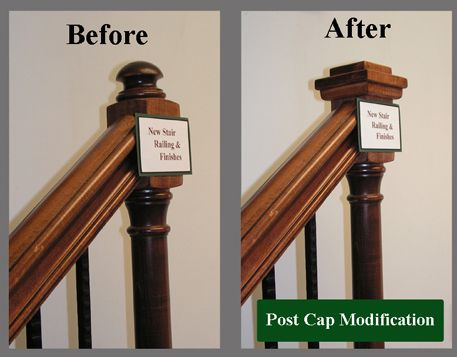 Newel Post Cap Round To Square Remodeling Pinterest Stairs Posts And Caps