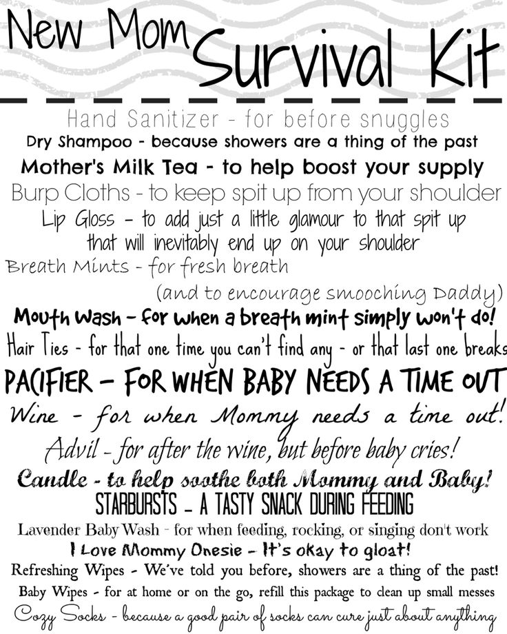 New Mommy Survival Kit Printable   By Mishelle O'Regan