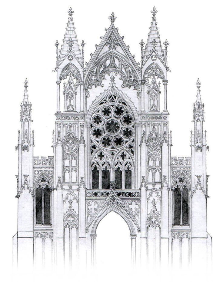 Картинки готической архитектуры карандашом