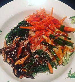 Vegan GF Korean Bibimbap | Health Like A Boss