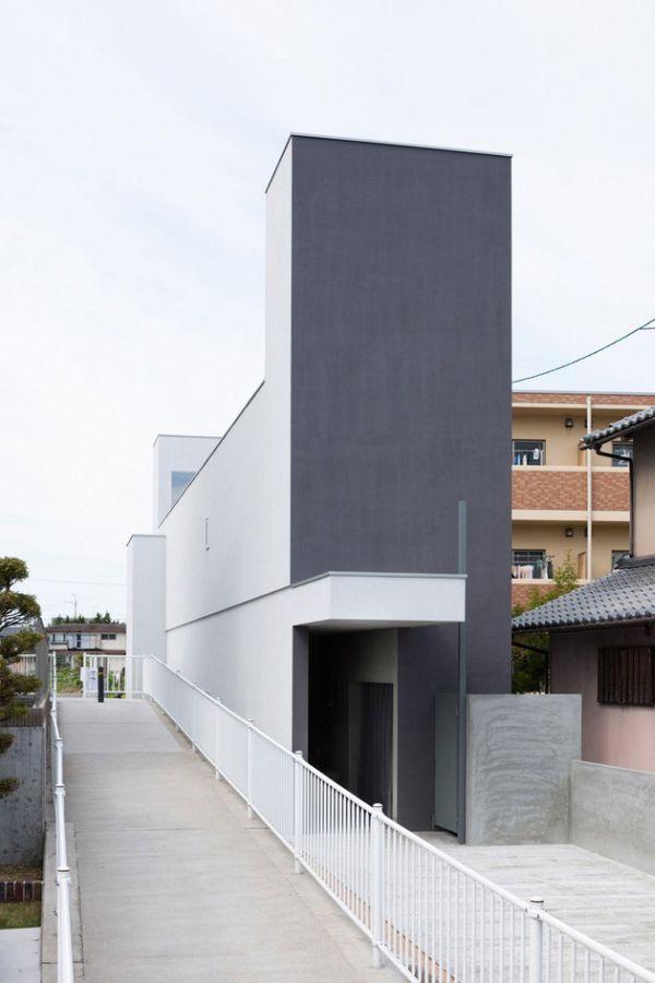 Great Narrow Urban Home With Concrete Walls And Upper Bridge. Japanese  Architecture Firm FORM/Kouichi Kimura Architects Designed The Promenade  House In Shiga ... Amazing Pictures