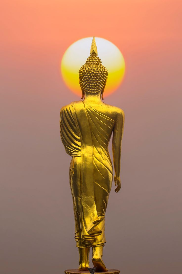 Buddha statue at sunset, Province Nan, Thailand by keangs9 Seksan / 500px