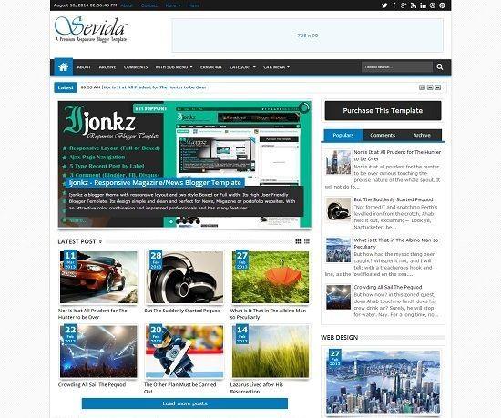 _CTPG_: Template Blogspot - Sevida Magazine - Responsive c...