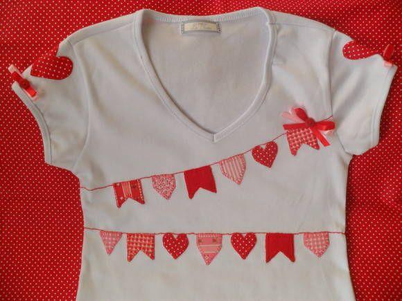 Kit com camisa festa junina (coração) | Ateliê Lu Tostes | Elo7