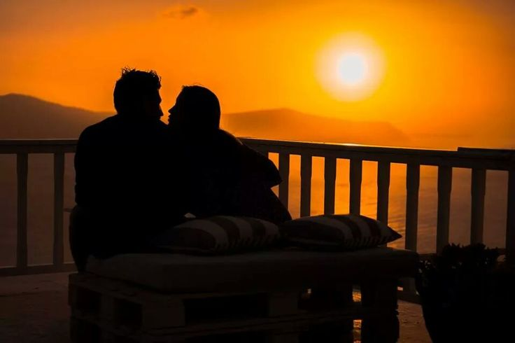 Watching the #sunset in #Santorini, what can be more #romantic?