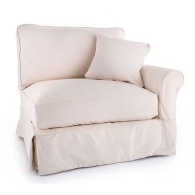Baldwin Right Armchair Slipcover   Special Order Fabrics | Ballard Designs.  Can Build Sectional With