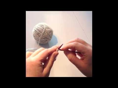 Englegarn: Perfekt opslagning til ribkanter - YouTube