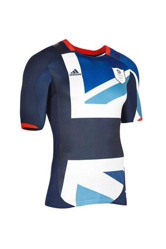 Camiseta que a seleção de futebol da Grã-Bretanha utilizará nos Jogos Olímpicos de Londres 2012. Criação de Stella McCartney. No mínimo estranha...