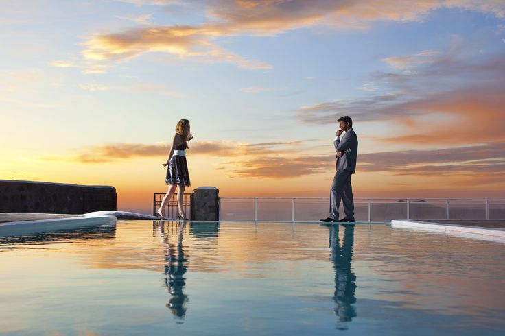 Find your other half in #Santorini. #sunset  #summer #holidays #luxury_holidays