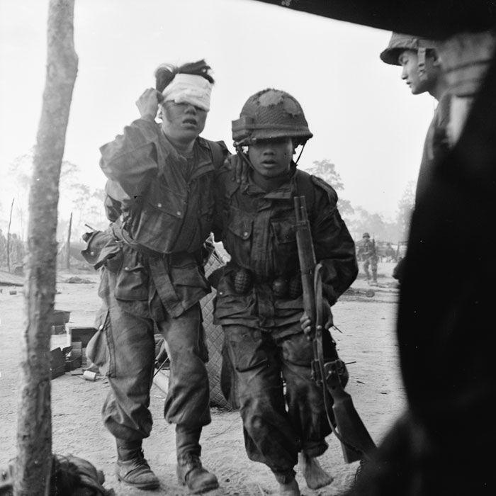 ECPAD   Combats à Banh-Hine-Siu et Na Pho auxquels prend part un bataillon de parachutistes viêtnamiens.