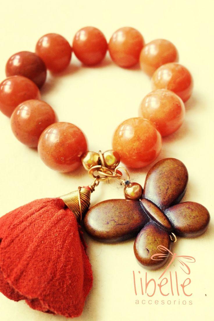 Pulseras... wood beads, tassel, ..