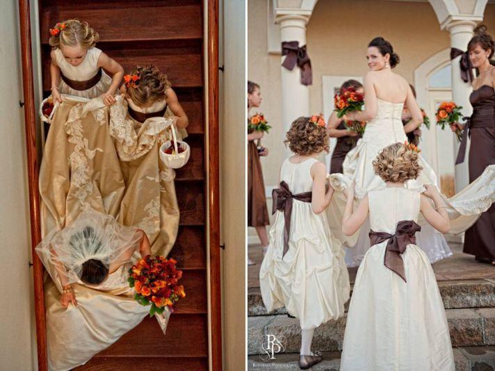 Burnt Orange And Chocolate Brown Wedding