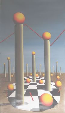 "Saatchi Online Artist A-K-RONA ART; Painting, ""THE OASIS"" #art"