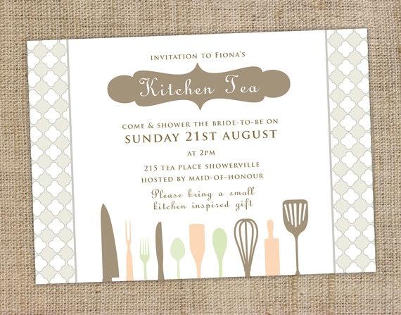 Best 25 kitchen tea invitations ideas on pinterest hens night kitchen tea invitation stopboris Image collections