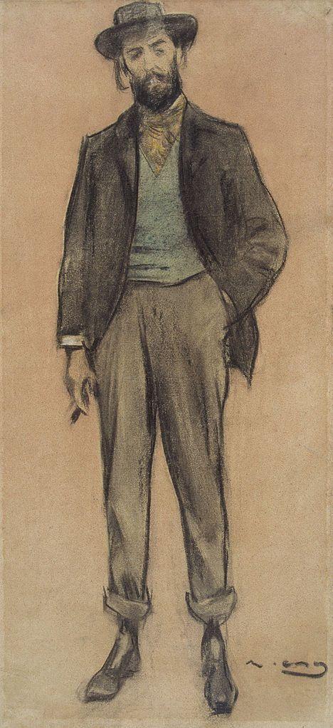 The Athenaeum - Portrait of Pere Romeu (Ramon Casas y Carbó - )