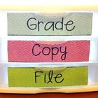 Grade, Copy & File labels to keep you organized!...