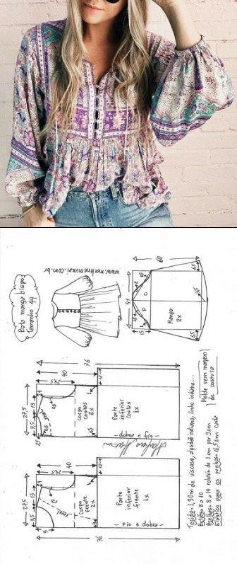 Шитье простые выкройки #modelagem, #MODA #patrones, #costura…