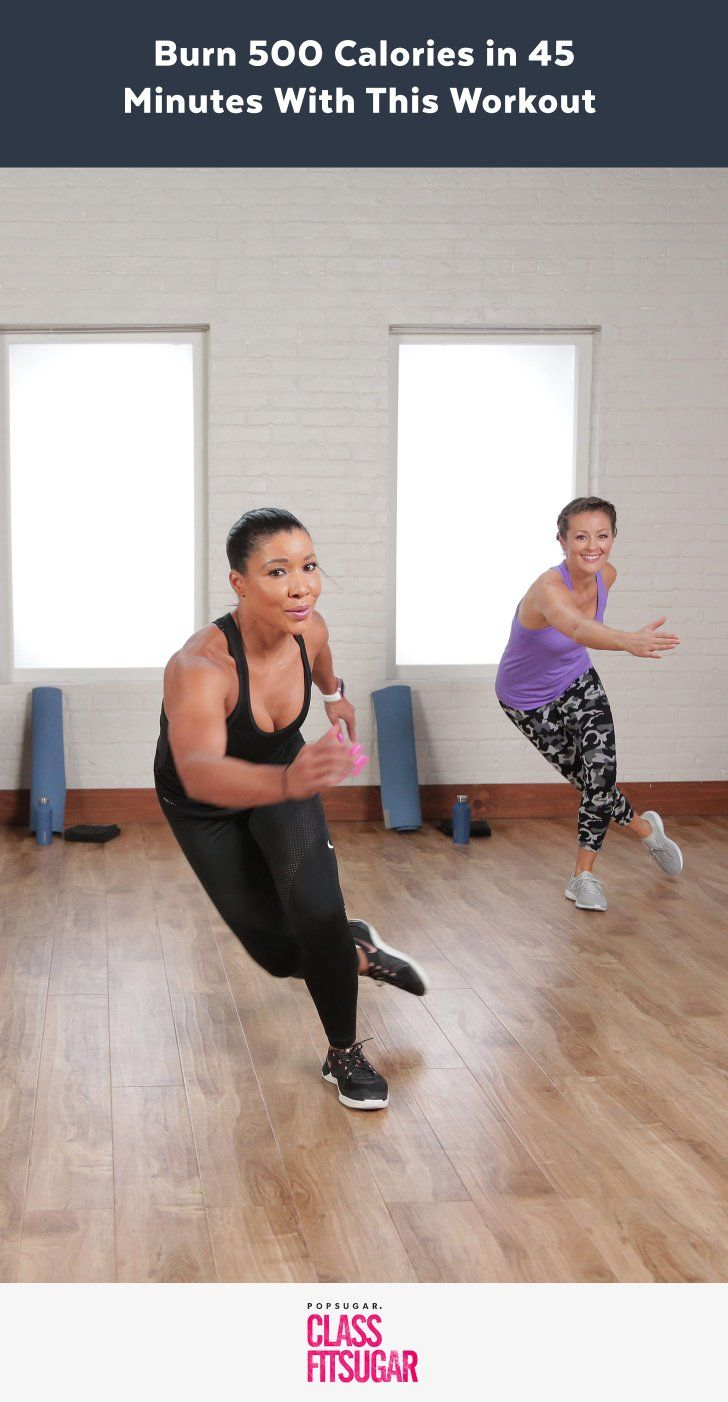 This 500-Calorie-Burning Workout Will Leave You Dripping With Sweat