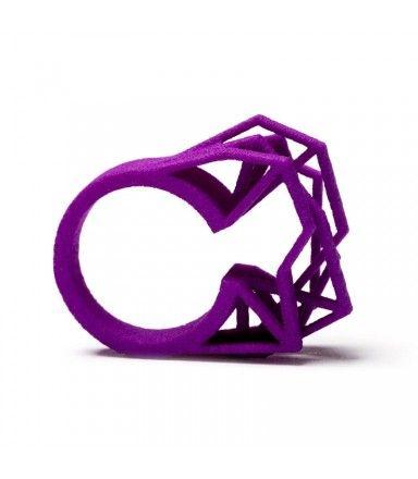 #3D - Ring aus Nylon in knalligem Violett!