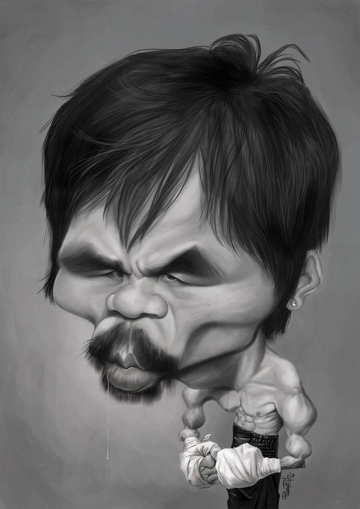 (3) Pablo Pino - Dibujo 12: Manny Pacquiao #12MannyPacquiao