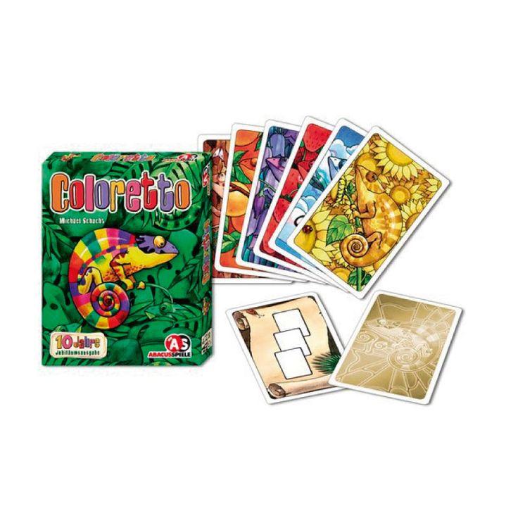 Coloretto- Juego de Mesa ¿Qué estás tratando de hacer con estas cartas? Colecciona conjuntos enormes, pero solo en tres colores, ya que cada color más allá del tercero te costará puntos. #juegosdemesa #juegosdecartas #coloretto #songeniales