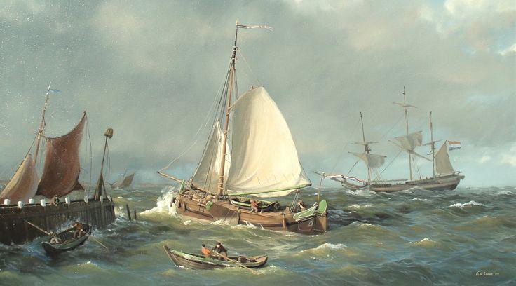 Tjalk,by À.de Lange.
