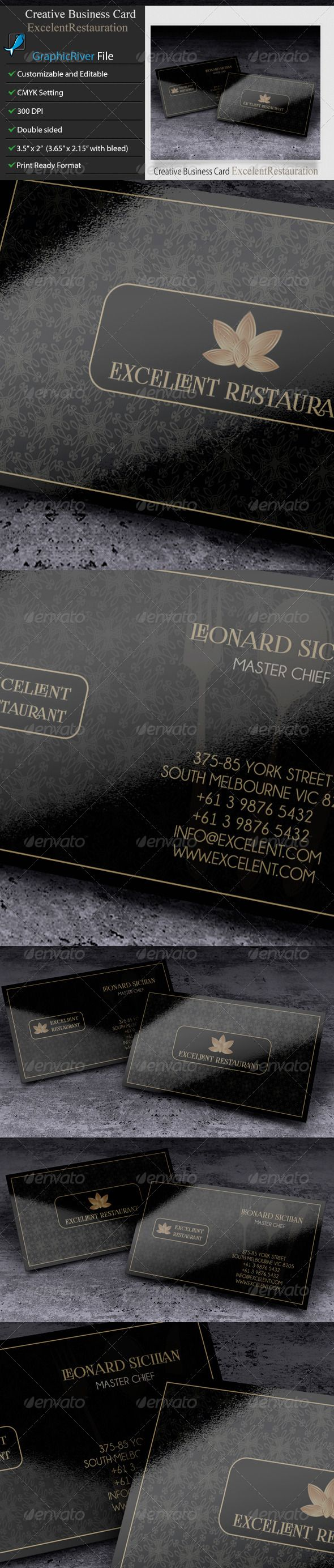Creative Business Card –Excelent Restauration