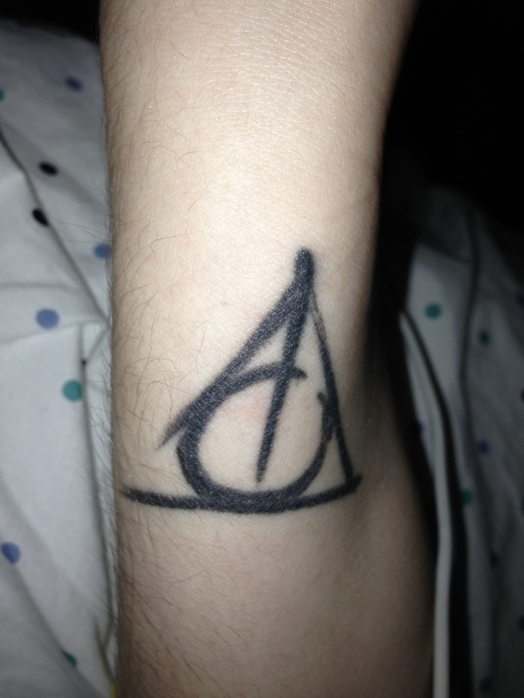 my deathly hallows tattoo on the wrist tattoos pinterest. Black Bedroom Furniture Sets. Home Design Ideas