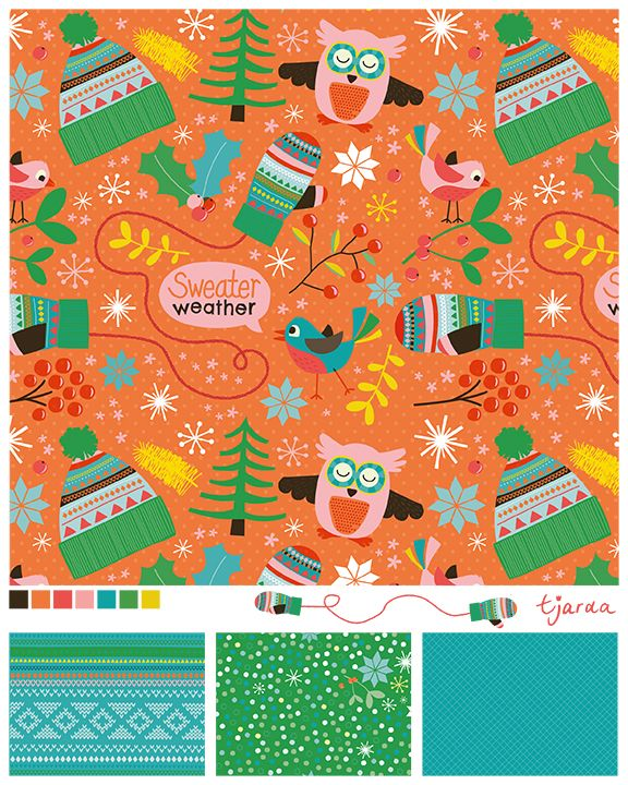 """Winter pattern sweater weather made by Zwiep for magazine """"Thuis""""."""