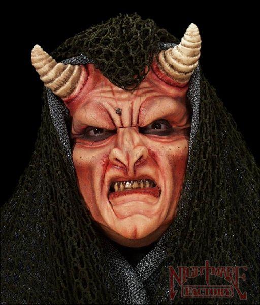 Demon Full Face Prosthetic Halloween Makeup FX Appliance     August 2012 Semi-Annual Halloween Mask Sale