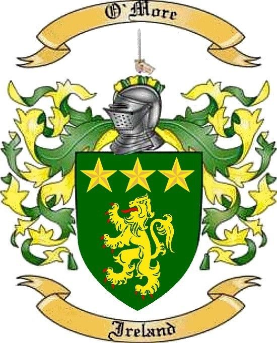 Coat of arms of Bolshego (O'More) - line of my father. According to Russian surname literally sounds Bolshego. O'More means majestic, noble. The coat of arms has O'More Anglo-Norman roots 'Strongbow'. The coat of arms is in the Archives of Ireland. The coat of arms was granted O'More in the 12th century.  Description Emblem O'More - Sword of the crest symbol of enlightenment. Yellow five-pointed stars on the shield - a symbol of heroism and a bright future. Lion on the shield symbolizes…