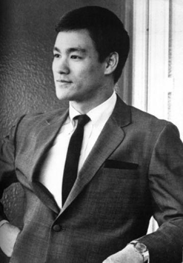 Bruce Lee stylin' it old school.   (ZsaZsa Bellagio: In the Men's Room.)
