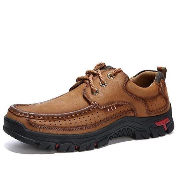 312e1f9869e5 Men Casual Outdoor Lace-up Genuine Leather Oxfords