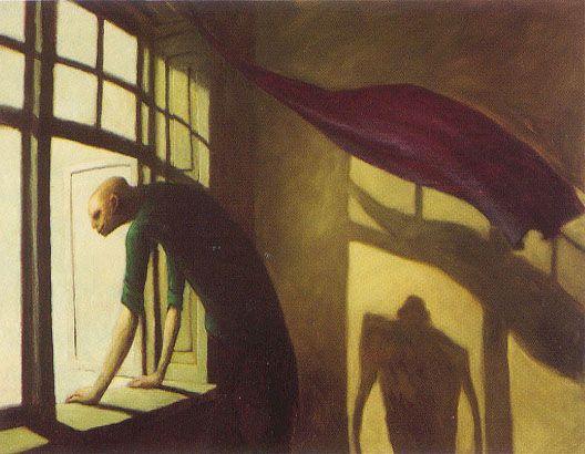 Michael Kvium: selfportrait (Pap - skyld)