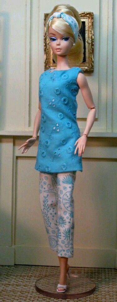 Silkstone BArbie doll in blue