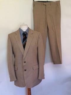 e31eb06e4d89 Vintage mens suit by Luhta - Suomen Silkkikutomo Oy- Made in Finland wool  beige suit