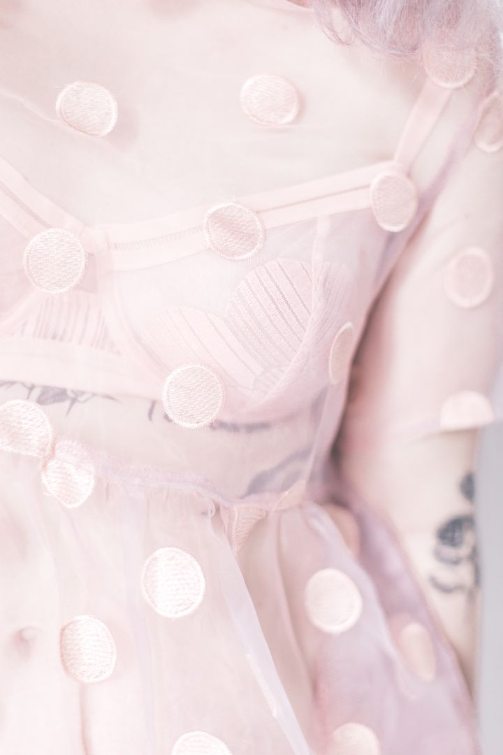 Tattoo and The Whitepepper pink dress