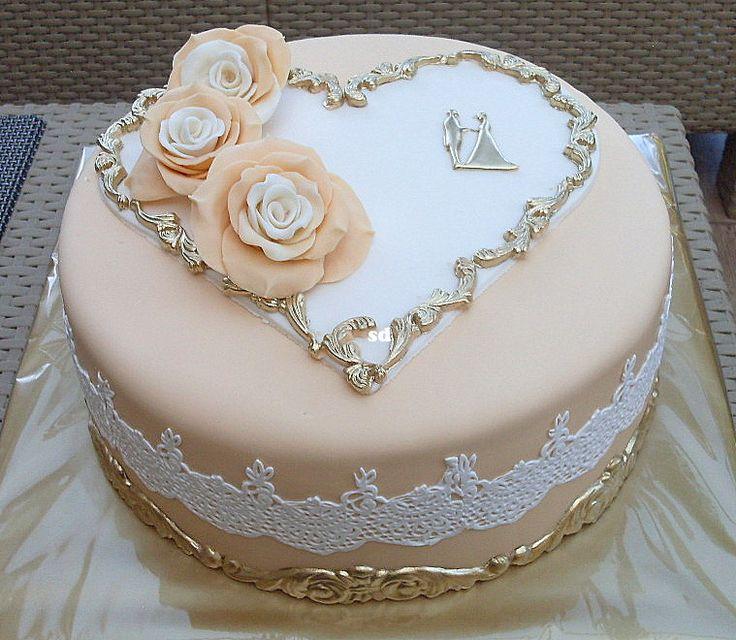 svadobná v béžovo zlatom , Inšpirácie na originálne torty Svadobné torty