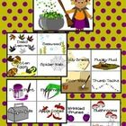 """This set includes illustrated word cards for the song """"Witches Brew"""" by Hap Palmer. 4 cards to a page.   Included are: Witch Cauldron Dead Leaves S..."""
