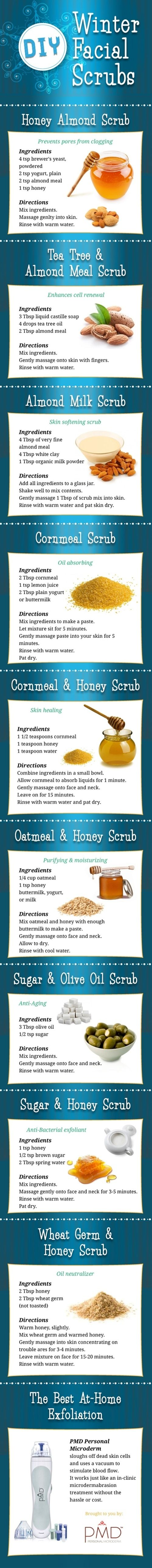 DIY Winter Facial Scrubs! - Click image to find more health posts
