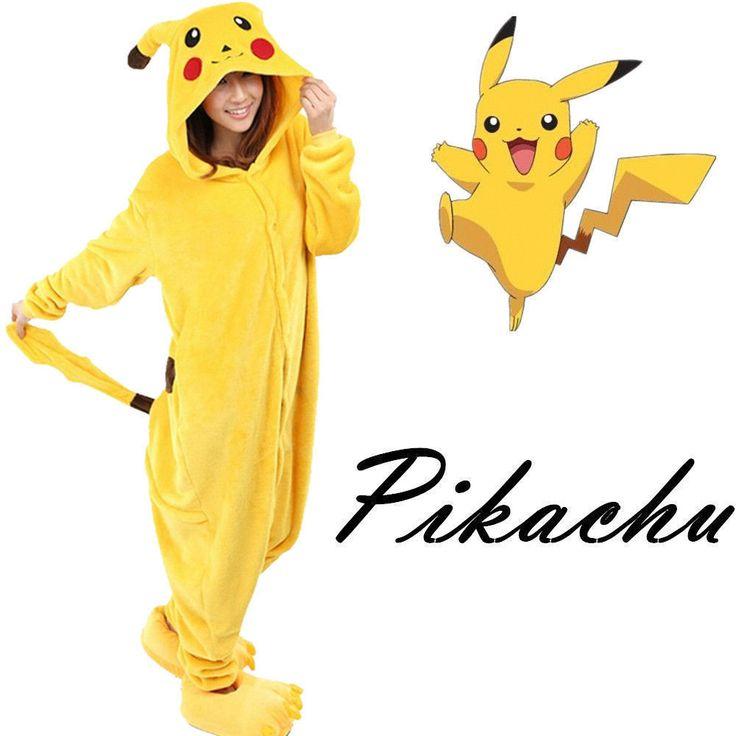 New Fancy Dress Anime Pikachu Pokemon Onesie Cosplay Costume Kigurumi Pajamas #Unbranded #DressSleepwear