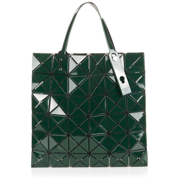 Bao Bao Issey Miyake Lucent Basic tote (€385) ❤ liked on Polyvore featuring bags, handbags, tote bags, dark green, mesh purse, green purse, dark green purse, green tote bag and green handbags