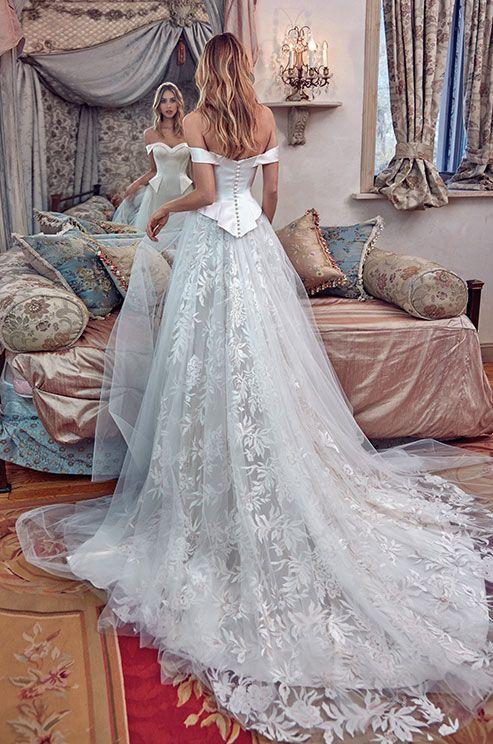 Galia Lahav off shoulder wedding dresses - Deer Pearl Flowers / http://www.deerpearlflowers.com/wedding-dress-inspiration/galia-lahav-off-shoulder-wedding-dresses/