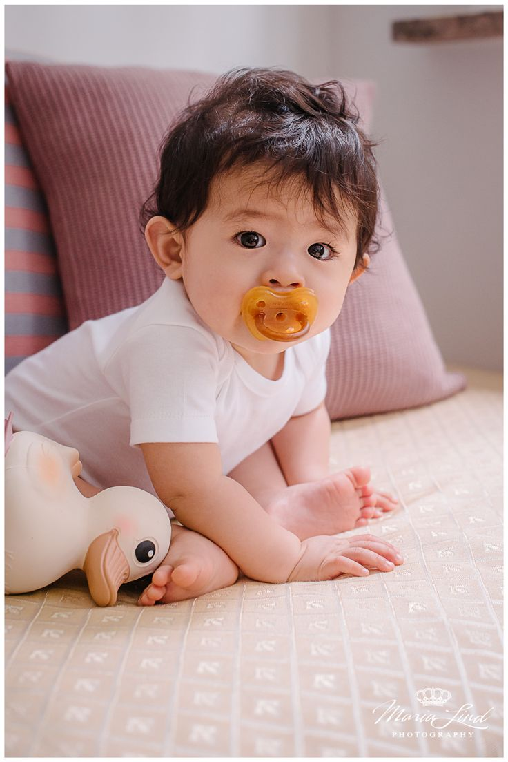Baby Kenji is a big fan of our all natural, toxin free Hevea Pacifier!