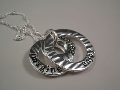Silver Inspirational Necklace