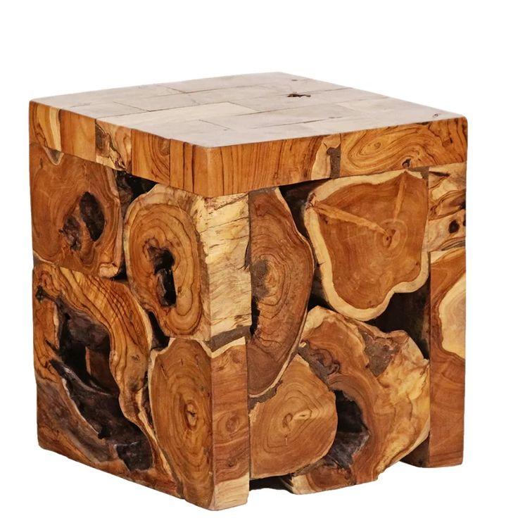 Teak Root Cube Accent Stool in 2020 Wood, Teak, Accent stool
