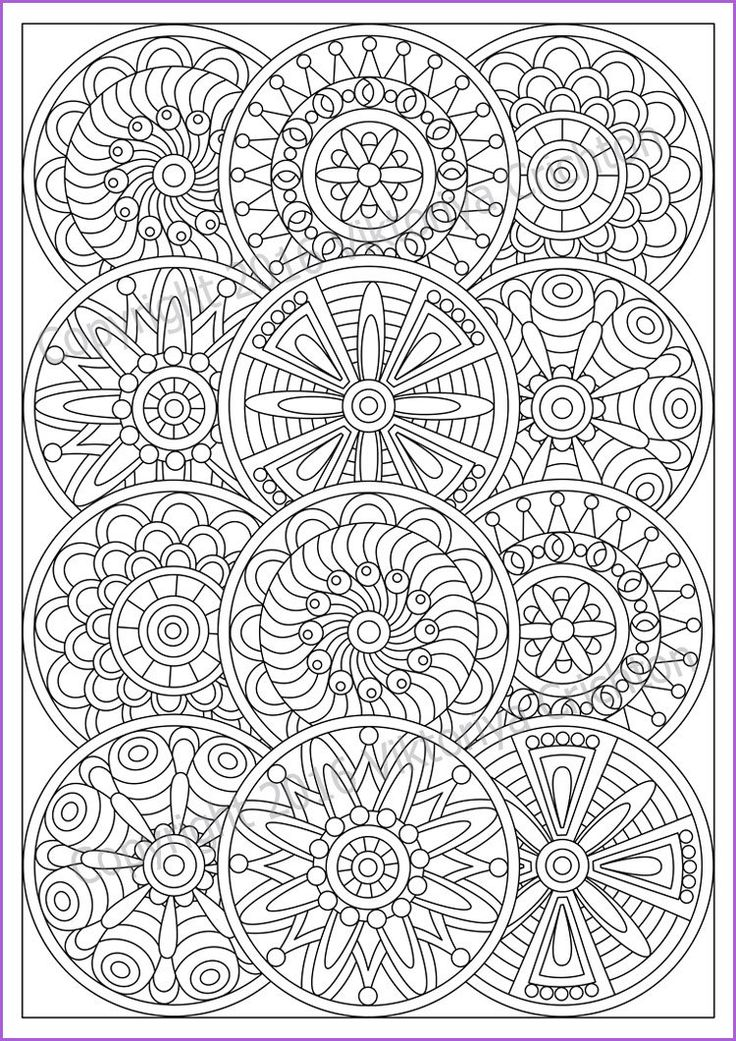 Mandala Coloring page for adult