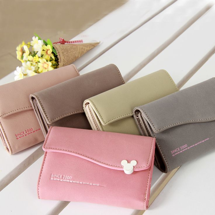 Mouse Hasp Wave Edge 6 Colors 3 Styles Solid Lady Purse //Price: $15.02 & FREE Shipping // #glamour #girl  #bagsdesigns